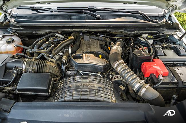 ford ranger raptor Bi-turbo engine