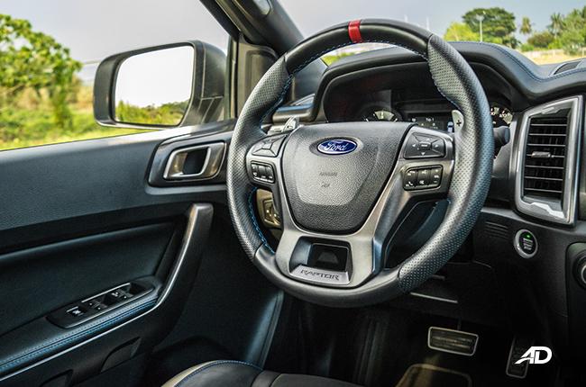ford ranger raptor driver airbag