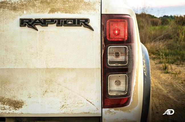 Ford Ranger Raptor exterior road test taillights