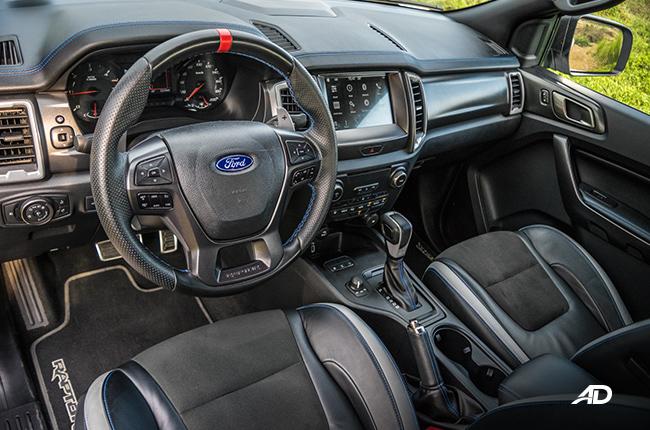 Ford Ranger Raptor interior