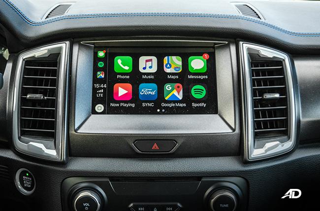 Ford Ranger Raptor interior road test infotainment