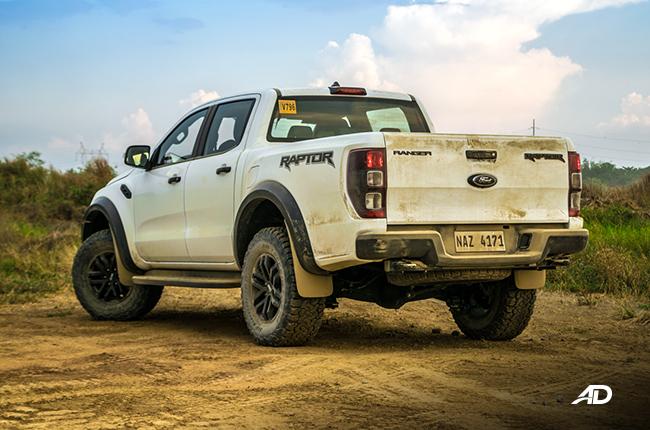 ford ranger raptor rear view