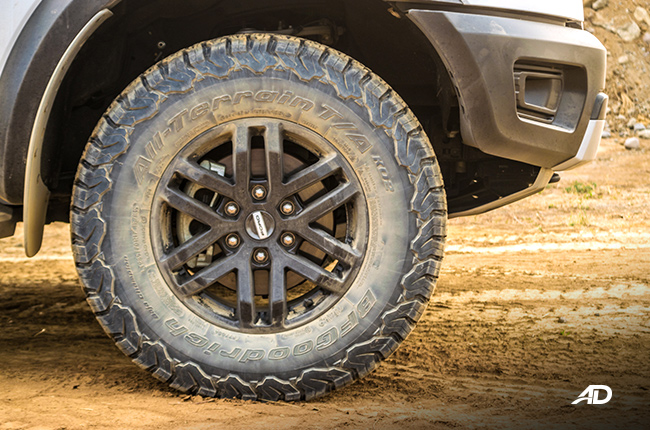 Ford Ranger Raptor wheels and tires