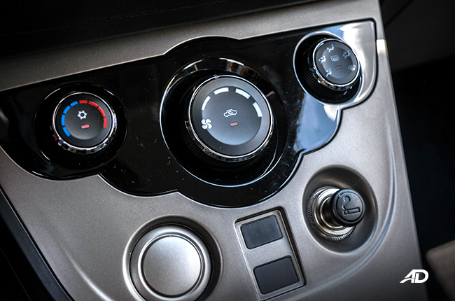 Haima M3 air conditioning controls