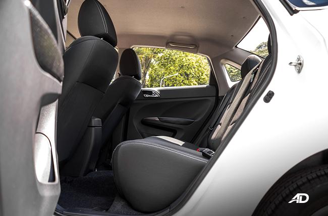 Haima M3 rear passenger space