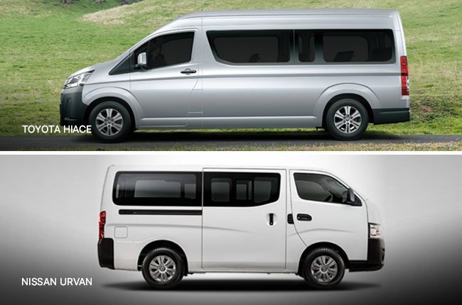 Head-to-Head: Nissan Urvan Vs. Toyota Hiace