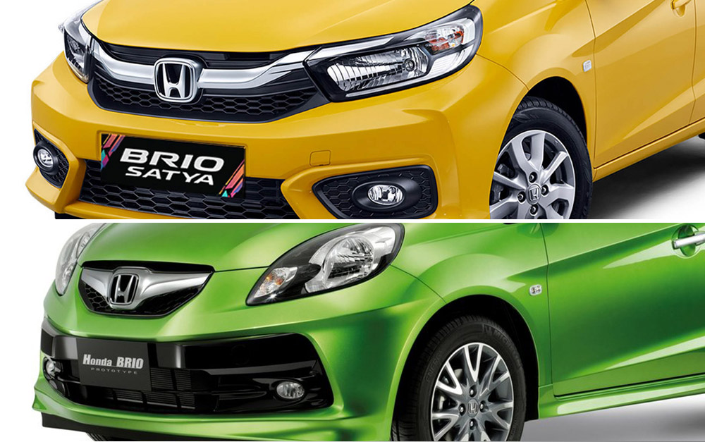 Honda Brio old and new face-off
