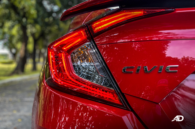 honda civic rs turbo road test exterior badge