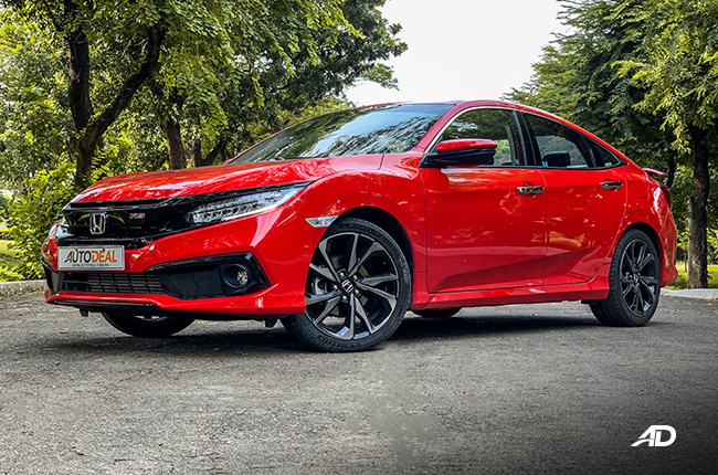 honda civic rs turbo road test exterior front