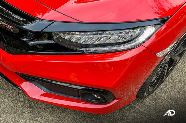 honda civic rs turbo road test exterior headlights
