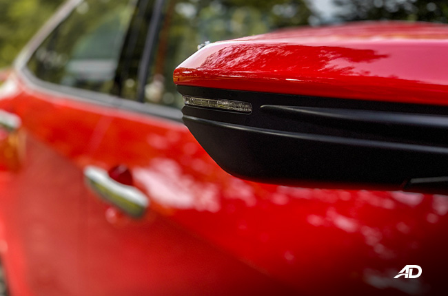 honda civic rs turbo road test exterior side mirrors