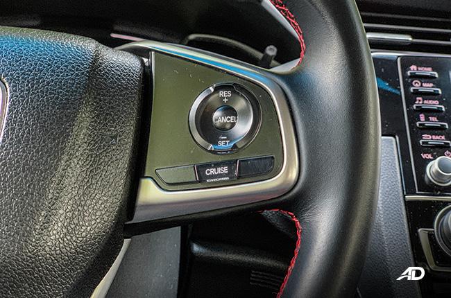 honda civic rs turbo road test interior cruise control