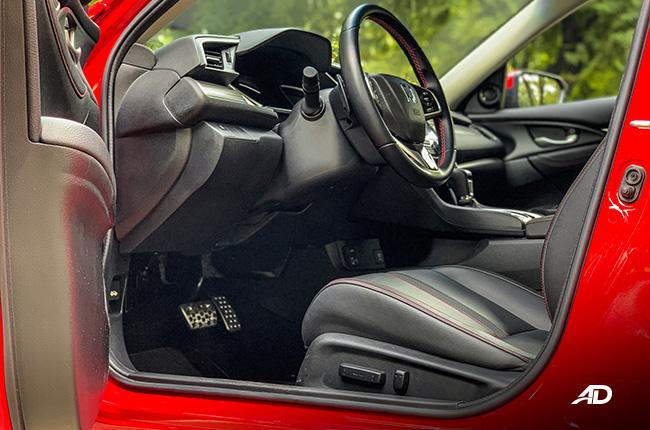 honda civic rs turbo road test interior front cabin