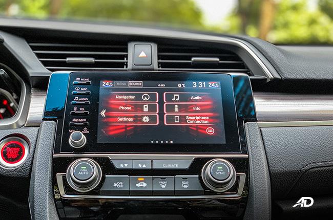 honda civic rs turbo road test interior technology