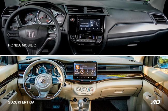 Honda Mobilio Suzuki Ertiga Dashboard Comparison