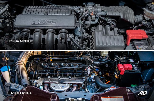 Honda Mobilio Suzuki Ertiga Engine Comparison