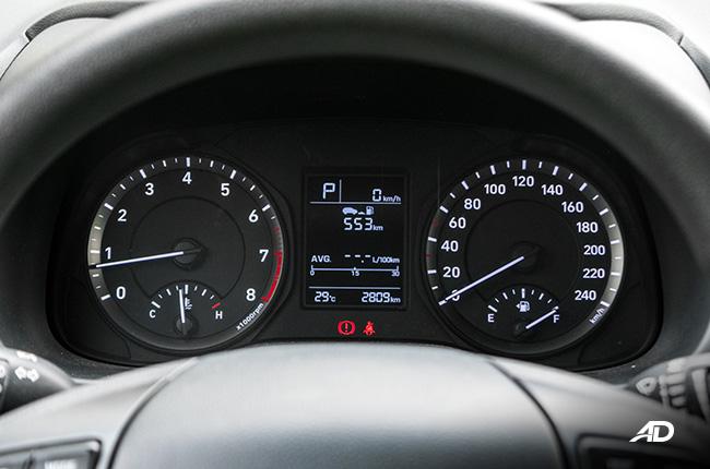 Hyundai Kona gauge cluster