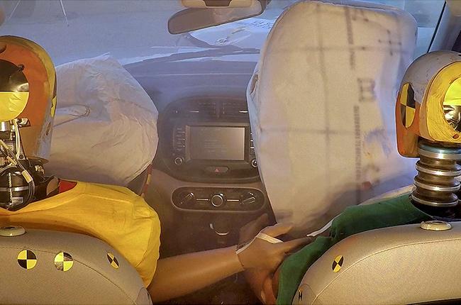 Hyundai multi-collison airbag system