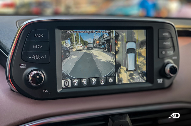 hyundai santa fe road test interior around view monitor