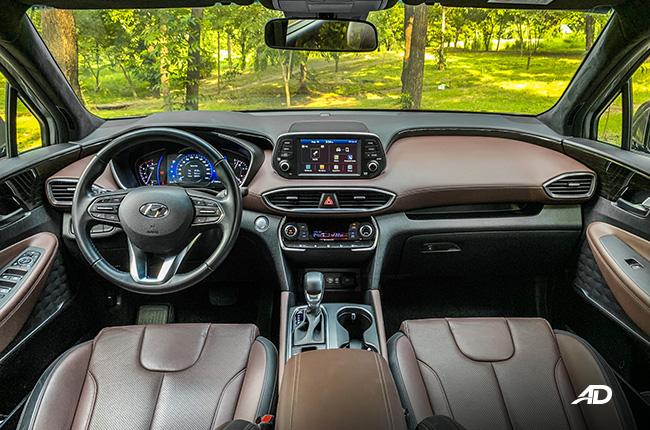 hyundai santa fe road test interior dashboard