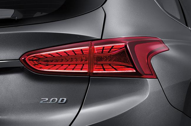 Hyundai Santa Fe Tail Lights Top of the Line