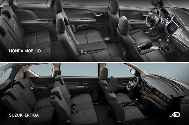 Interior Comparison Ertiga Mobilio