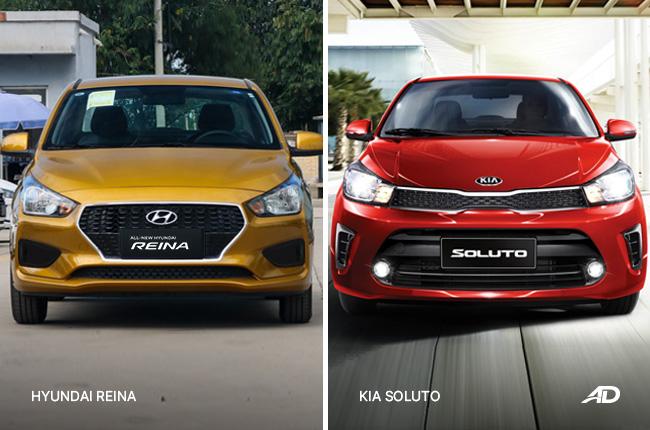 Kia Soluto vs Hyundai Reina front