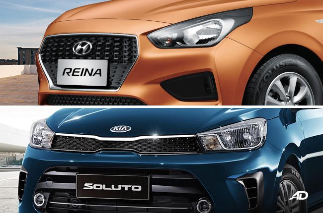 Kia Soluto vs Hyundai Reina grille