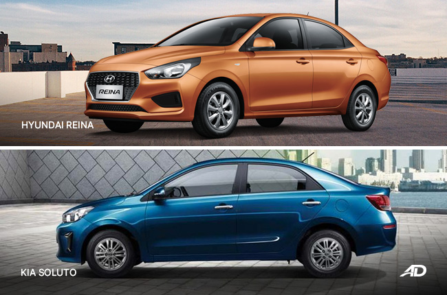 Kia Soluto vs Hyundai Reina side