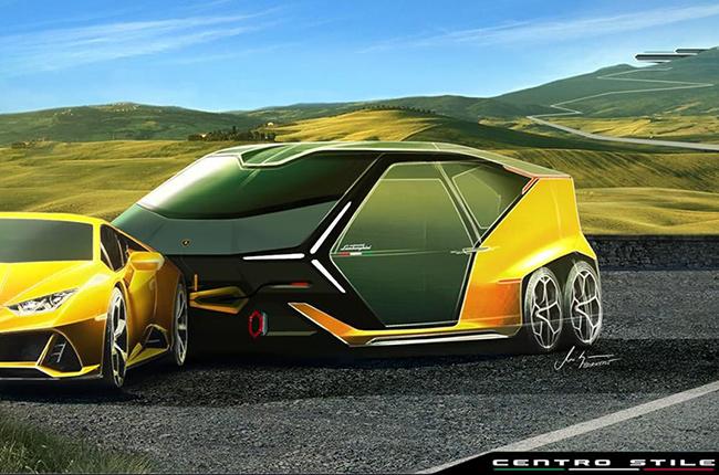 Lamborghini Camper Trailer