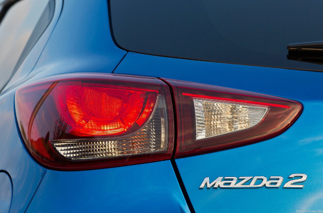 Mazda2 Rear Taillight and Badge