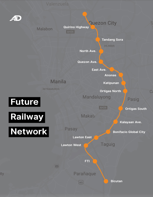 Here are the terminals and route of the Metro Manila Subway | Autodeal