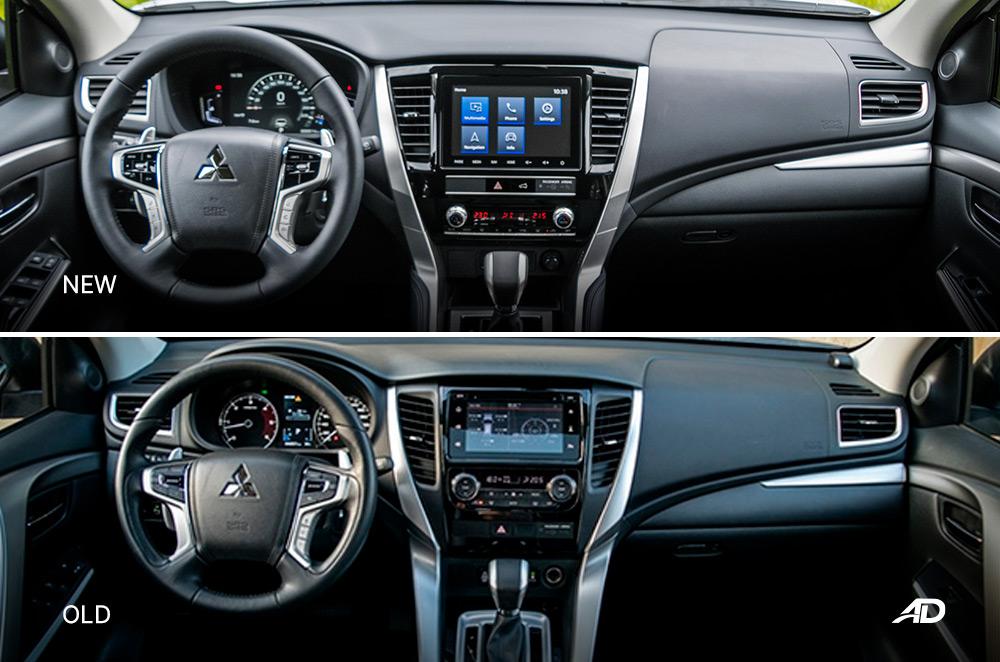 Montero Sport Face Lift vs Old Model - Interior Dashboard