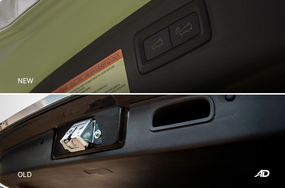 Montero Sport Face Lift vs Old model - Power Tailgate