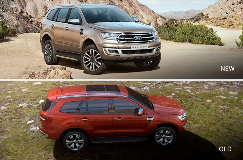 New and old Ford Everest
