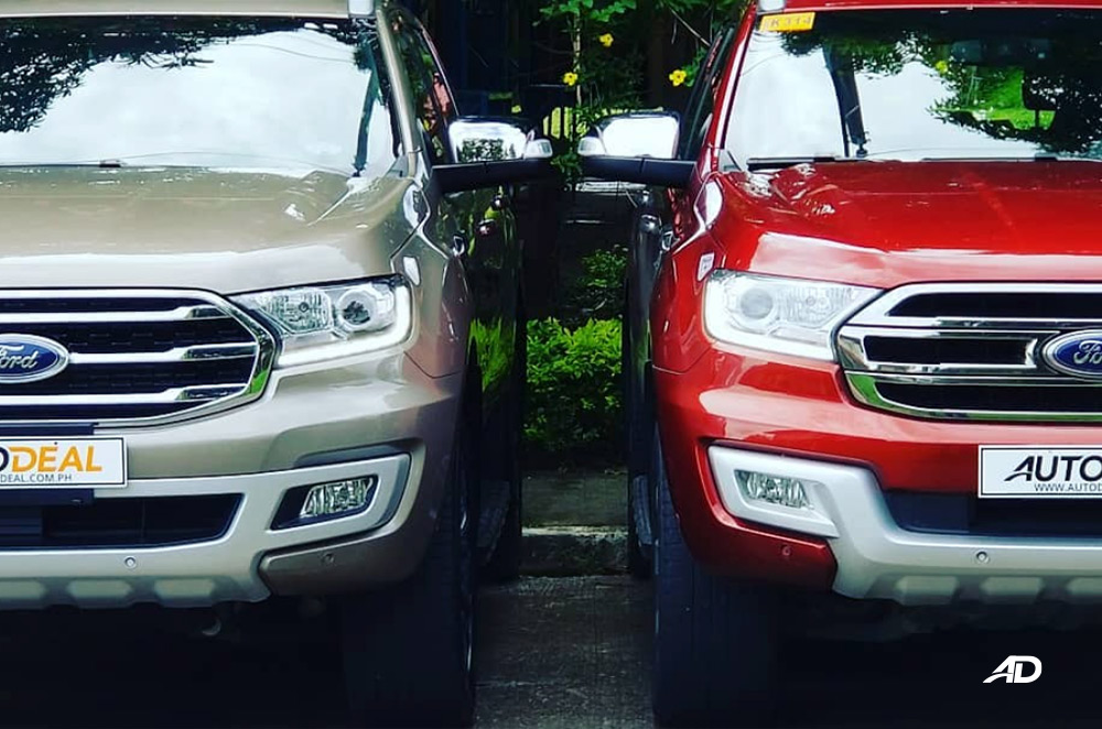 New and old Ford Everest grille