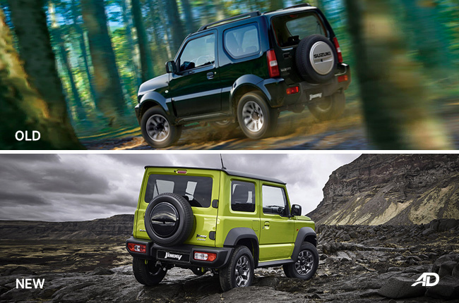 Old vs 2019 Suzuki Jimny