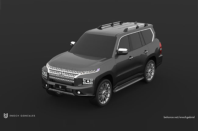 Pajero Front Top View Render