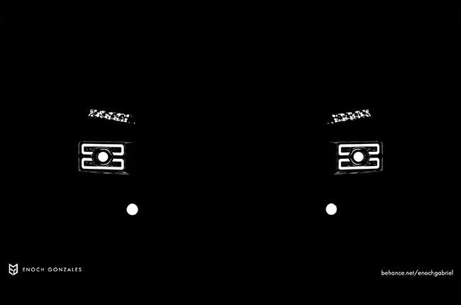 Pajero Head Light Render