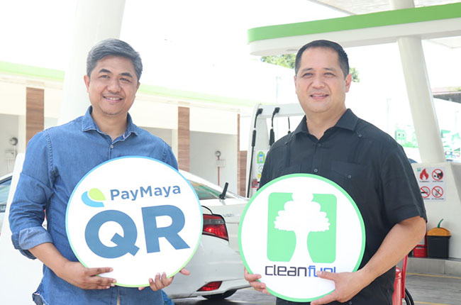 Pay Maya and CleanFuel