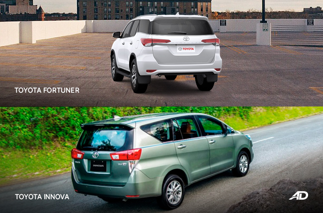 Toyota Innova vs. Fortuner – Sibling Rivalry