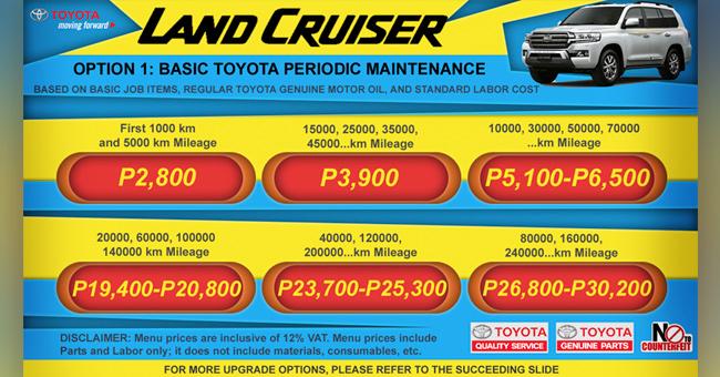 Toyota Preventive Maintenance Cost Philippines