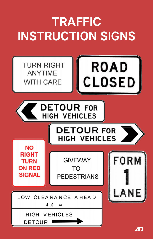 Traffic Instruction Signs