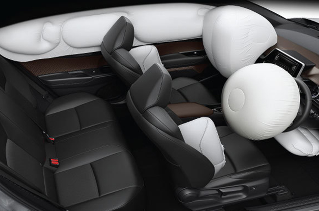 Updated Toyota C-HR airbags