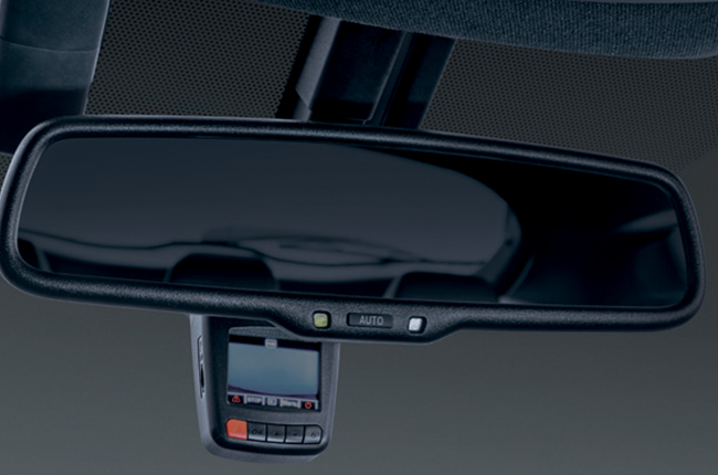 Updated Toyota C-HR rear view mirror