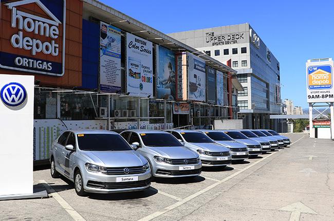 Volkswagen Santana CW Home Depot fleet cars