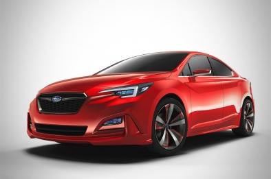 Subaru unmasks the all-new Impreza sedan concept