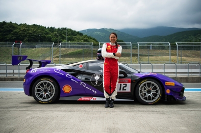 4th round Ferrari Challenge 2nd placer Angie King