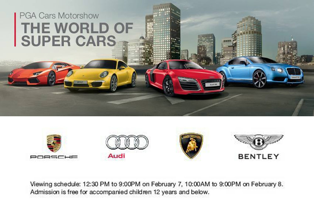 PGA Cars' World of Super Cars to feature Audi, Porsche, Lambo, and Bentley