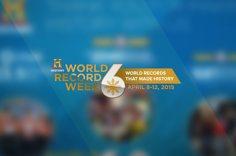 The History Channel helps set 4 new Guinness World Records in the Philippines